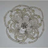 Woman's Elegant Beaded Wire Kippah in Simply Elegant Design