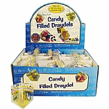 Plastic Draydel Filled with Chanukah Gelt