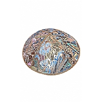 FL-102 Fancy Foil Embossed Leather Kippah