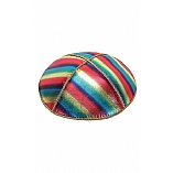 FL-103 Fancy Foil Embossed Leather Kippah