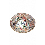 FL-104 Fancy Foil Embossed Leather Kippah