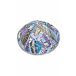 FL-105 Fancy Foil Embossed Leather Kippah
