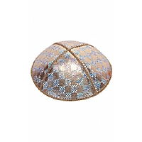 FL-110 Fancy Foil Embossed Leather Kippah