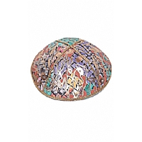 FL-112 Fancy Foil Embossed Leather Kippah