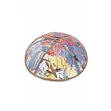 FL-117 Fancy Foil Embossed Leather Kippah