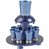 Anodized Aluminum Kiddush Wine Fountain / Blue