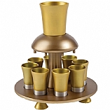 Anodized Aluminum Kiddush Wine Fountain / Gold