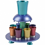 Anodized Aluminum Kiddush Wine Fountain / Colorful