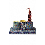 Hand Painted Shabbat Set / Havdalah Set in Oriental Design
