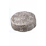 Hand Embroidered Buchari Hat / Jerusalem in Silver