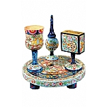 Handpainted Havdalah Set / Oriental Design