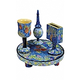 Handpainted Havdalah Set in Seven Species Design
