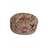 Embroidered Buchari Hat / Pomegranates in Gold