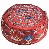 Embroidered Buchari Hat / Oriental Flowers in Maroon