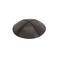Black Leather Kippah