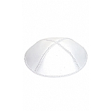 White Leather Kippah