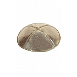 Gold Lame' Leather Kippah