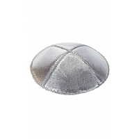 Silver Lame' Leather Kippah