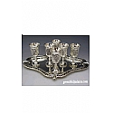 Grapes Design Silver Plated Liquor Set