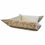 Embroidered Folding Basket / Oriental White