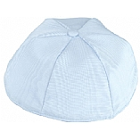 Light Blue Moire' Kippah