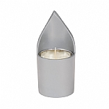 Anodized Silver Aluminum Memorial Candle Holder