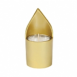 Anodized Gold Aluminum Memorial Candle Holder