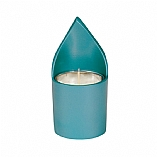 Anodized Turquoise Aluminum Memorial Candle Holder