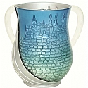 Acrylic Wash Cup Blue Jerusalem Design