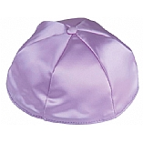 Lavender Satin Kippah with Button