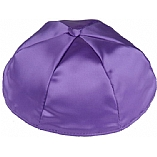 Medium Purple Satin Kippah with Button