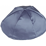 Wedgewood / Sky Blue Satin Kippah with Button