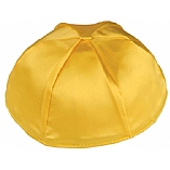 Gold Yellow Satin Kippah with Button