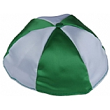 Two Colors Satin Kippah with Button