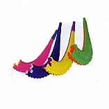 Children's Colorful Plastic Shofar with Whistle / 25 Pack