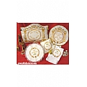 4 Piece Brocade Embroidered Seder Set