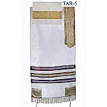 White and Gold Organza Tallit Set