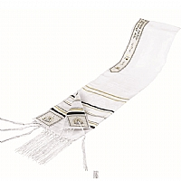 Antique Synagogue Rayon Tallit Set