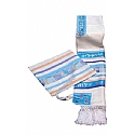 Aviv Jerusalem City of Peace Tallit Set in Pastel Colors