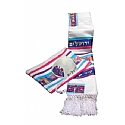 Aviv Jerusalem City of Peace Tallit Set in Primary Colors