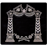 Canopy Design All Silver Threading Velvet Tallit / Tefillin Bag