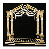 Canopy Design Metallic Threading Velvet Tallit / Tefillin Bag