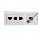 Apples and Honey Rectangular Glass Plate