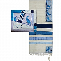 Crown Silk Applique'd Tallit