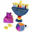 Deluxe Soft Menorah Set