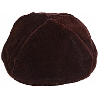 Brown Velvet Kippah
