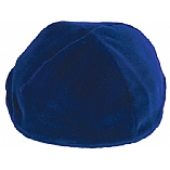 Royal Blue Velvet Kippah