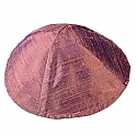 Raw Silk Kippah / Red