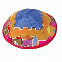 Silk Painted Kippah / Jerusalem Color