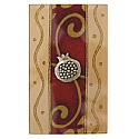 Lily Art Glass Appliqued Large Matchbox Holder in Burgundy